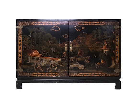 #3181 Asian Cabinet with Bar Interior
