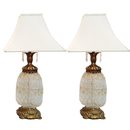#6213 Pair Champagne Lamps
