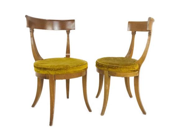 #4506 Pair Klismos Side Chairs