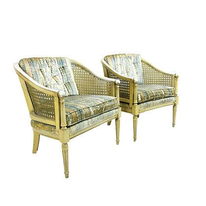 #5058 Pair Cane Chairs