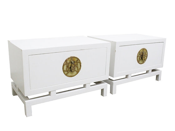 #2787 Pair of Pepe Mendoza Lacquered Nightstands