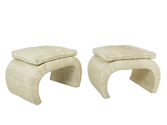 #2758 Pair of Waterfall Stools w/Attached Cushions