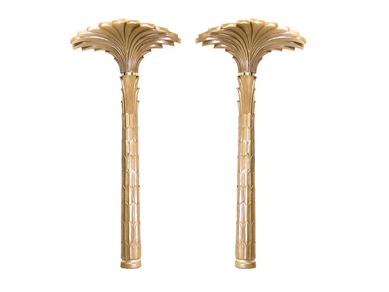 #2995 Pair Tall Palm Tree Wall Lamps