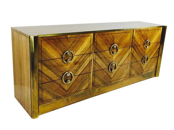 #1803 Zebrano Wood Dresser by Mastercraft