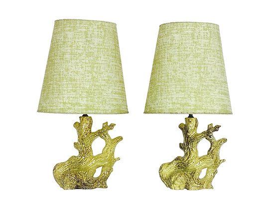 #2244 Pair Coral Style Lamps