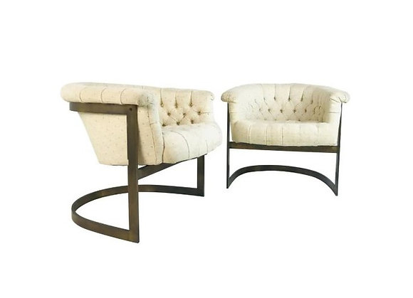 #4549 Thayer Coggin Bronze Chairs