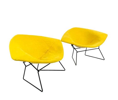 #5676 Pair of Knoll Bertoia Large Diamond Chairs