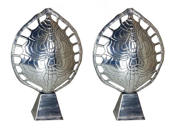 #2389 Pair Arthur Court Tortoise Shell Lamps