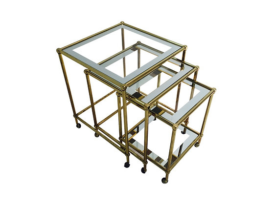 #2199 Set of Brass Nesting Tables