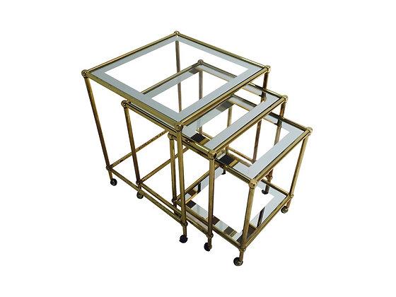 #2199 Set of Brass Nesting Tables