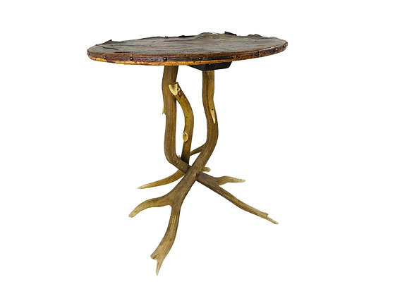 #3572 Vintage Antler Table