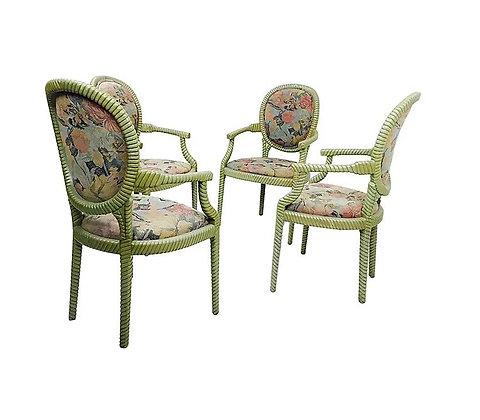 #4998 Pair Rope Chairs