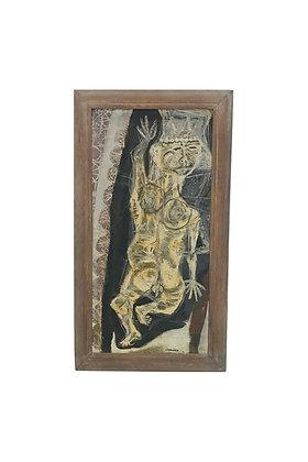 #4618 Brutalist Framed Art