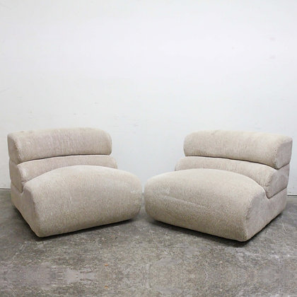#8165 Pair Curved Back Chairs