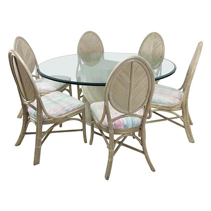 #4294 McGuire Dining Table & 8 Chairs