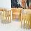Thumbnail: #2348 Pair Wood Petal Style Armchairs