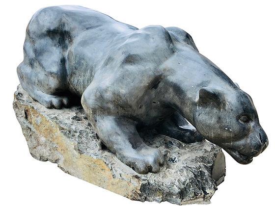 #3990 Soapstone Cougar Statue