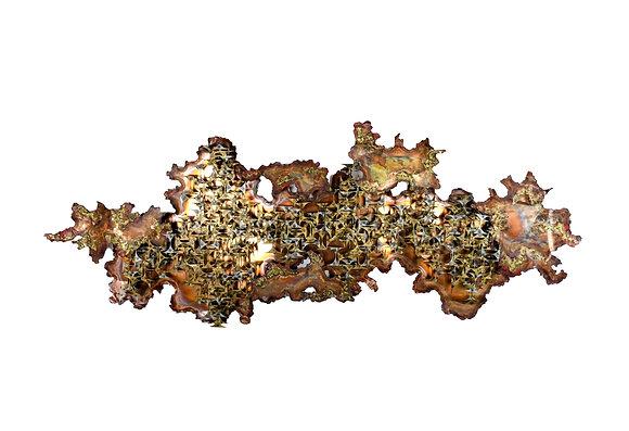 #4989 Brass & Steel Wall Sculpture