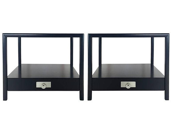 #1992 Newly Lacquered Side Tables by Baker