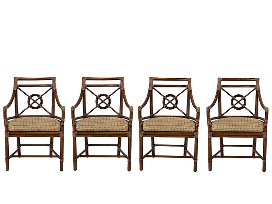 #3096 Set of 4 McGuire Dining Chairs