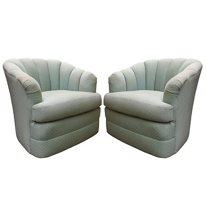 #7853 Pair Channel Back Chairs