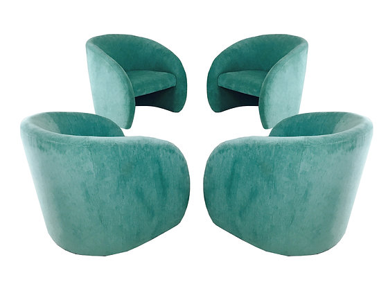 #2268 (2 Sets) Pair Deco Style Lounge Chairs