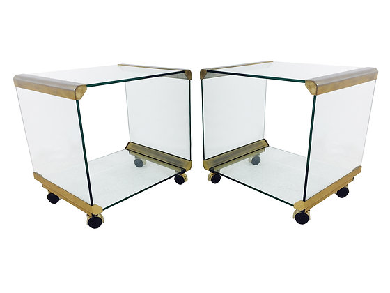 #2476 Pair Rolling Cart/Side Tables