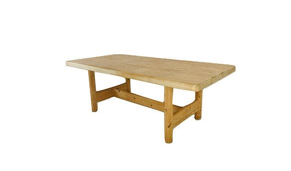 #4710 Scandinavian Pine Butcher Block dining table