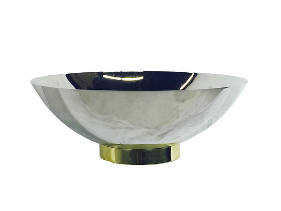 #2496 Monumental Stainless Bowl by Brueton