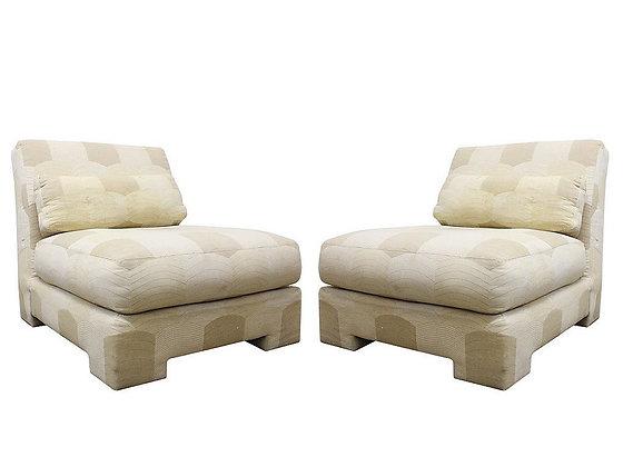 #4145 Pair Milo Baughman Chairs for Thayer Coggin