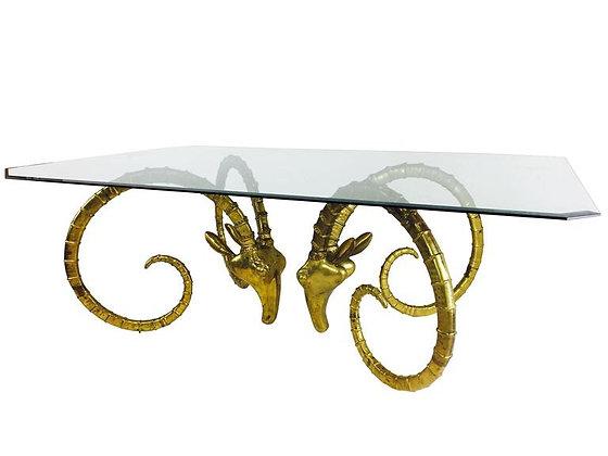 #2419 Brass Rams Head Dining Table