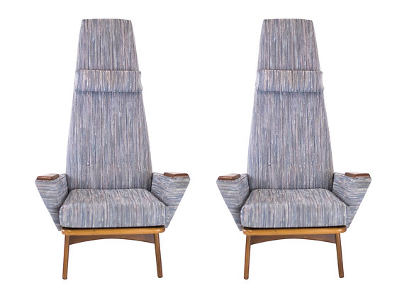 #3168 Pair Extra Tall Adrian Pearsall Armchairs