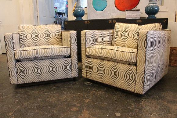 #8311 Pair Op Art Cube Chairs