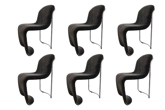 #1018 Set of 6 Italian Dining Chairs