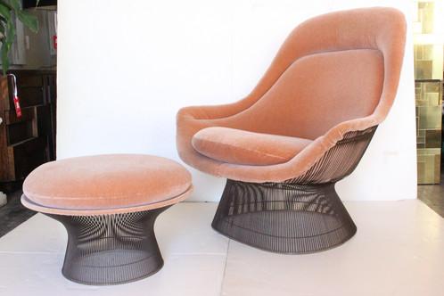 #1303 Bronze Warren Platner Chair U0026 Ottoman