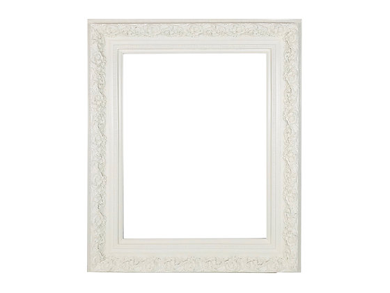 #4030 Carved White Picture Frame