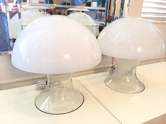#729 Pr Blown Glass Lamps: Gino Vistas for Murano