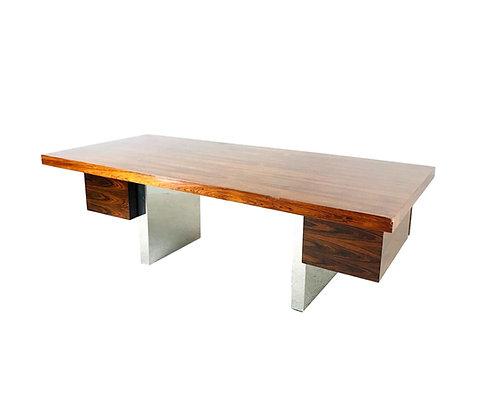 #5439 Dunbar Rosewood & Chrome Executive Desk