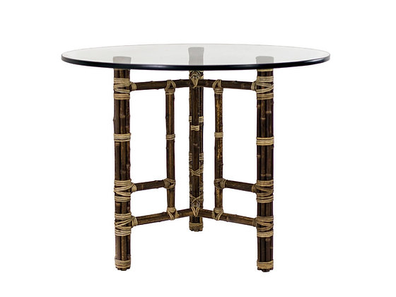 """#3095 36""""dia Bamboo Dining Table by McGuire"""