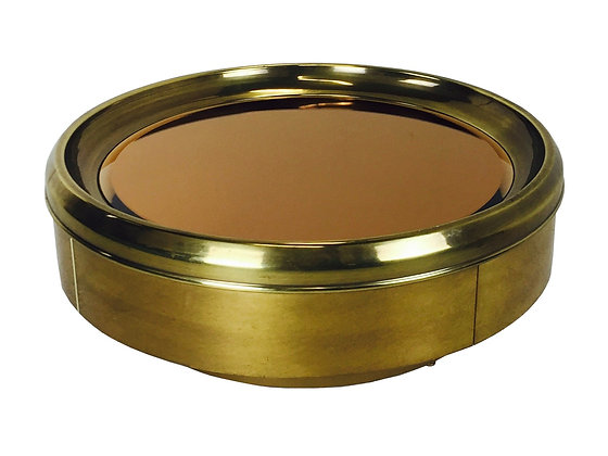 #2681 Bronze & Brass Coffee Table by Mastercraft