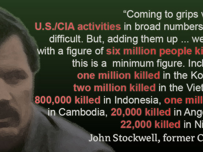 Former CIA-Agent, John Stockwell: Big part of CIA-Activities are propaganda and desinformation