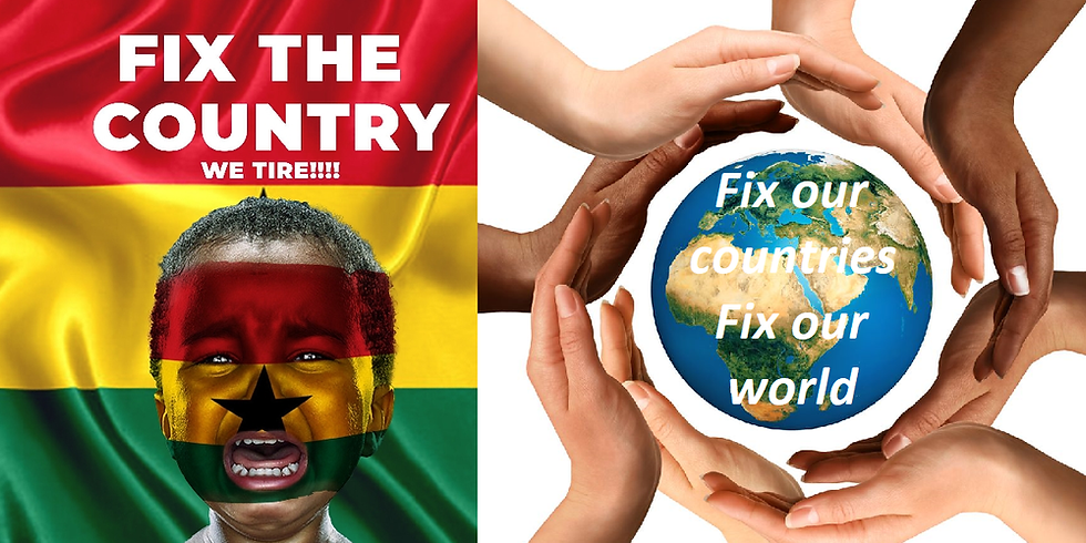 Let`s Fix our countries;: Let`s Fix our world