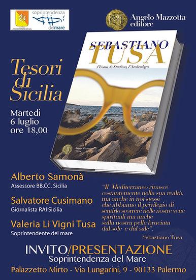 6 luglio 2021 invito presentazione Sebastiano Tusa
