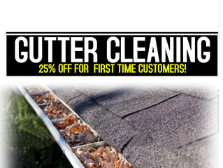 25% OFF Gutter Cleaning Services