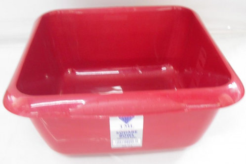 Square Washing Up Bowl Red
