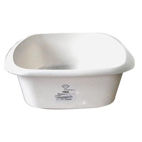 Rectangular Washing up Bowl White