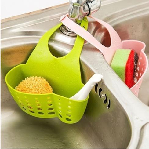Adjustable kitchen sink faucet/ Storage Basket/ Drain racks/ Sponge holder