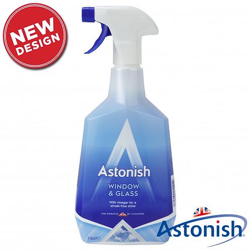 750ml spray Astonish Window & Glass Cleaner with vinegar