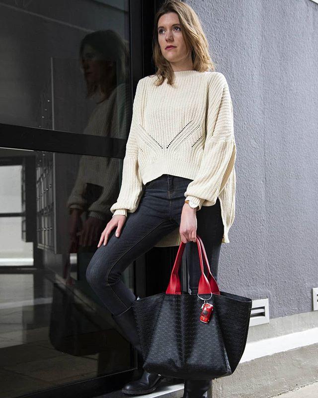 Un sac en caoutchouc et cuire de vachette Made in Paris