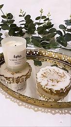 White + Gold Geode Coaster (Individual)